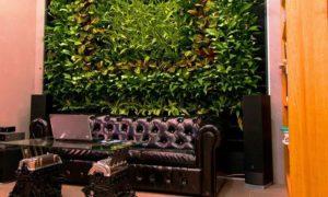 офис с вертикальным озеленением